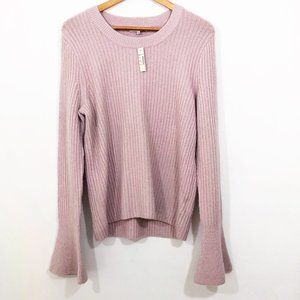 NWT! Madewell Ruffle-Cuff Pullover Sweater L